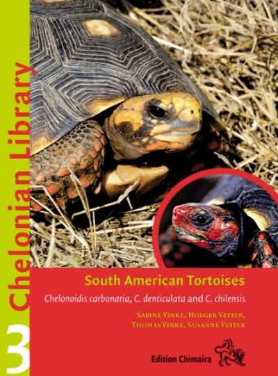 South American Tortoises. Chelonoidis carbonaria, C. denticulata and C. chilensis